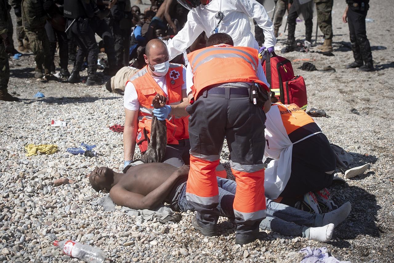 Crisis migratoria Ceuta - 18 y 19 mayo 2021 - Marcos Moreno-073
